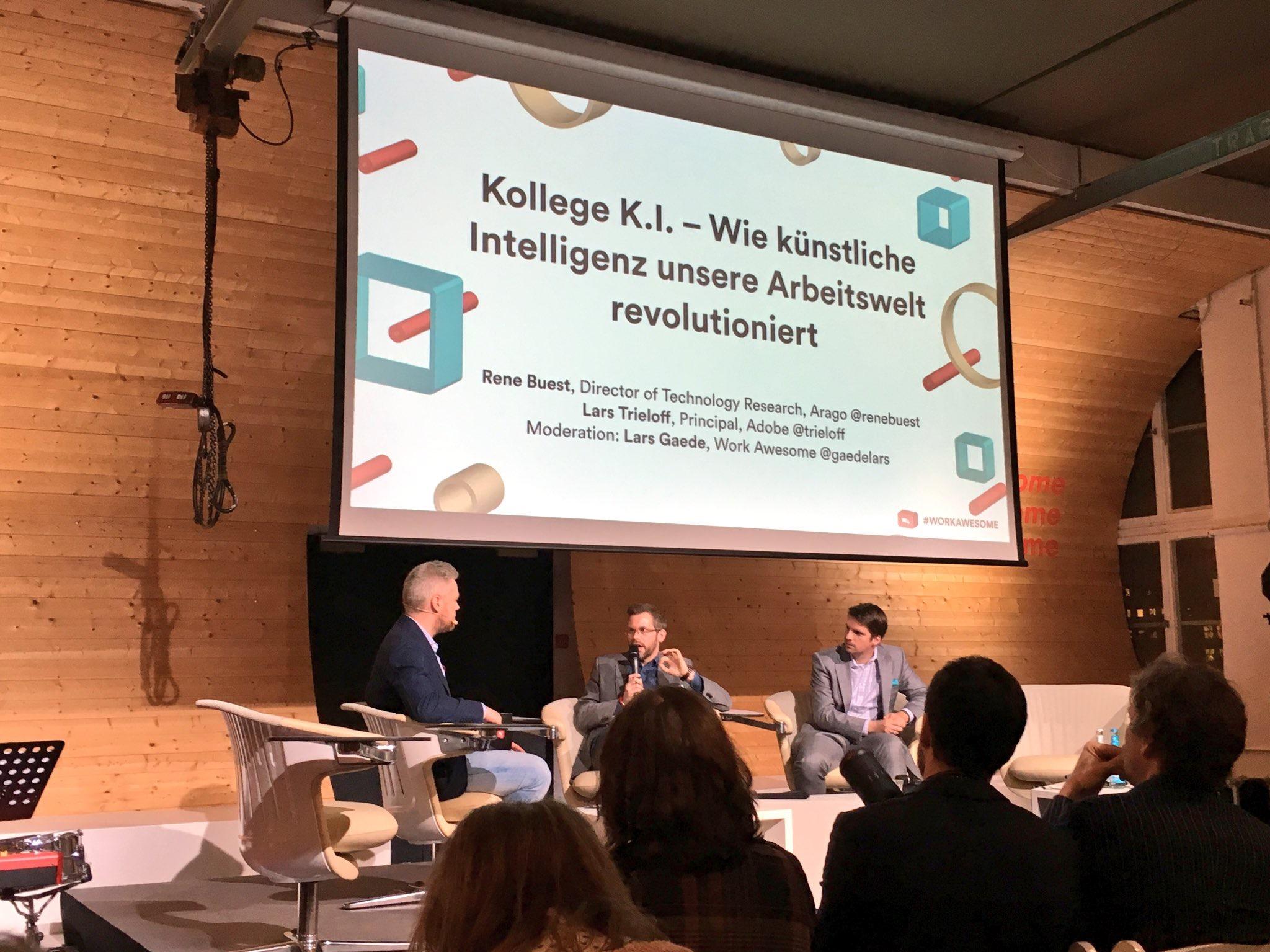 """Panel Diskussion @ Work Awesome 2017: """"Kollege KI: Wie künstliche Intelligenz unsere Arbeitswelt revolutioniert"""""""